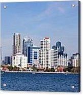 San Diego Skyline Acrylic Print by Jeff Lowe