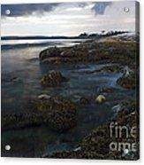 Sea At Sunset Acrylic Print