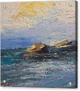 Sea Rocks Acrylic Print by George Siaba