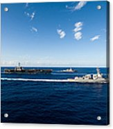 Ships From The John C. Stennis Carrier Acrylic Print