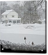 Snow Covers The Streets Acrylic Print