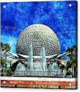 Spaceship Earth And Fountain Of Nations Acrylic Print