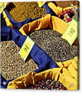 Spices On The Market Acrylic Print