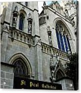 St Paul Cathedral Acrylic Print by Thomas R Fletcher
