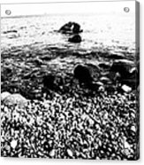 Stones At The Sea Acrylic Print by Falko Follert