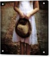 Straw Hat Acrylic Print by Joana Kruse
