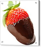 Strawberry Dipped In Chocolate Acrylic Print