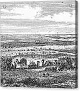 Suez Canal, 1869 Acrylic Print
