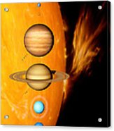 Sun And Its Planets Acrylic Print