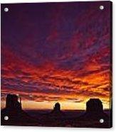 Sunrise Over Monument Valley, Arizona Acrylic Print