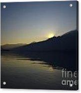 Sunset Over An Alpine Lake Acrylic Print