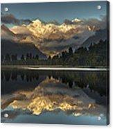 Sunset Reflection Of Lake Matheson Acrylic Print