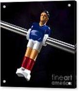 Tabletop Soccer Figurine Acrylic Print by Bernard Jaubert