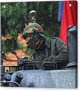 Tank Commander Of A Leopard 1a5 Mbt Acrylic Print