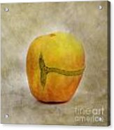 Textured Apple Acrylic Print