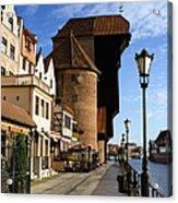 The Crane In Gdansk Acrylic Print