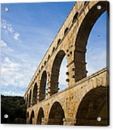 The Famous Pont Du Gare In France Acrylic Print