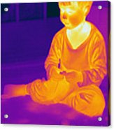 Thermogram Of A Boy Acrylic Print