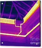 Thermogram Of Steam Pipes Acrylic Print