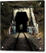 Train Tunnel At The Muir Trestle In Martinez California . 7d10220 Acrylic Print