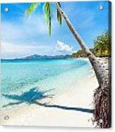 Tropical Beach Malcapuya Acrylic Print