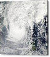 Typhoon Megi Acrylic Print