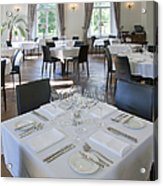 Upscale Hotel Dining Room Acrylic Print by Jaak Nilson