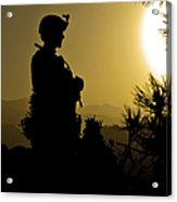 U.s. Army Sergeant Provides Security Acrylic Print