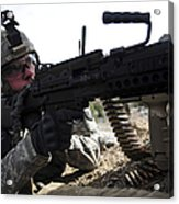 U.s. Army Soldier Provides Security Acrylic Print