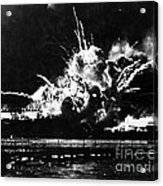 Uss Shaw, Pearl Harbor, December 7, 1941 Acrylic Print