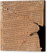 Venus Tablet Of Ammisaduqa, 7th Century Acrylic Print