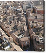 View Of Bologna From The Torre Degli Acrylic Print