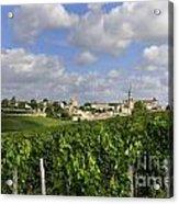 Village And Vineyard Of Saint-emilion. Gironde. France Acrylic Print