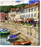 Village On The Lake Front Acrylic Print