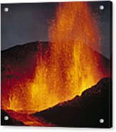 Volcanic Eruption, Spatter Cone Acrylic Print