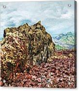 Volcano Batur Acrylic Print