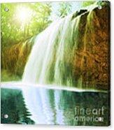 Waterfall Pool Acrylic Print