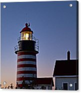 West Quoddy Head Lighthouse Acrylic Print by John Greim