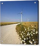 Wind Turbine, Humberside, England Acrylic Print by John Short