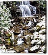 Winter Waterfall Back Fork Of Elk River Acrylic Print