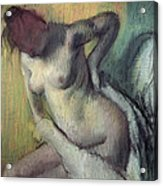 Woman Drying Herself Acrylic Print