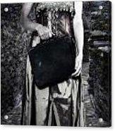 Woman In Alley Acrylic Print by Joana Kruse