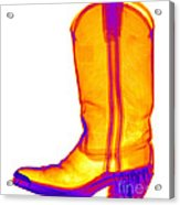 X-ray Of A Cowboy Boot Acrylic Print
