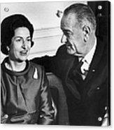 Lyndon Baines Johnson Acrylic Print