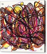 2010 Abstract Drawing 24 Acrylic Print