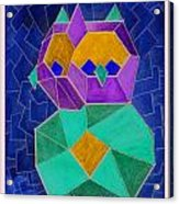 2010 Cubist Owl Negative Acrylic Print by Lilibeth Andre