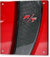 2012 Dodge Charger Rt  Acrylic Print