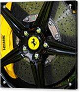 2012 Ferrari 458 Spider Brake Pad Yellow Acrylic Print