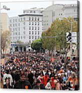 2012 San Francisco Giants World Series Champions Parade Crowd - Dpp0001 Acrylic Print by Wingsdomain Art and Photography