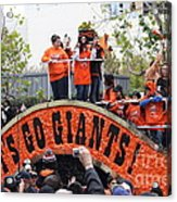 2012 San Francisco Giants World Series Champions Parade - Dpp0004 Acrylic Print by Wingsdomain Art and Photography